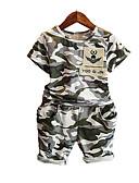 cheap Men's Pants & Shorts-Kids Boys' Print Short Sleeve Clothing Set