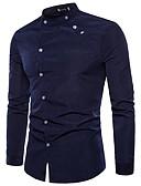זול חולצות לגברים-קולור בלוק פאנק & גותיות סגנון רחוב חולצה - בגדי ריקוד גברים