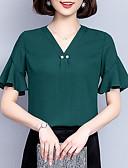 ieftine Bluză-Pentru femei În V Bluză Mată