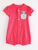 povoljno Vanjska odjeća za bebe-Dijete Djevojčice Osnovni Jednobojni / Na točkice Kratki rukav Pamuk Jednodijelno