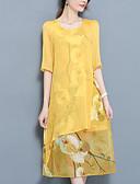 povoljno Ženske haljine-Žene A kroj Haljina Cvjetni print Midi