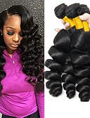 cheap Women's Dresses-4 Bundles Indian Hair Wavy Human Hair Natural Color Hair Weaves / Human Hair Extensions Human Hair Weaves Best Quality / Hot Sale / For Black Women Natural Color Human Hair Extensions Women's