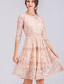 povoljno Ženske haljine-Žene Veći konfekcijski brojevi Osnovni Slim Korice Haljina Geometrijski oblici Do koljena Visoki struk