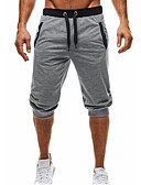 cheap Men's Pants & Shorts-Men's Basic Sweatpants / Shorts Pants - Solid Colored Black