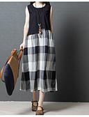baratos Vestidos de Mulher-Mulheres balanço / Duas Peças Vestido Estampa Colorida Médio