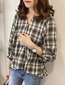 cheap Women's Dresses-Women's Shirt - Striped Shirt Collar