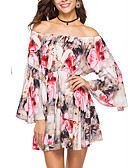 cheap Women's Swimwear & Bikinis-Women's Street chic / Sophisticated Swing Dress - Floral