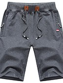 ieftine Pantaloni Bărbați si Pantaloni Scurți-Bărbați De Bază Mărime Plus Size Bumbac Pantaloni Scurți Pantaloni Mată