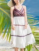 ieftine Tricou-Pentru femei Swing Rochie Dungi Cu Bretele Asimetric