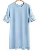 tanie Koszula-Damskie Podstawowy / Wyrafinowany styl Puszysta Luźna Spodnie - Solidne kolory Niebieski / Wyjściowe