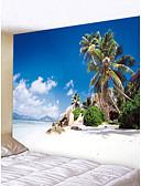 baratos Pijamas Kigurumi-Tema Praia Paisagem Decoração de Parede Poliéster Moderna Modern Arte de Parede, Tapetes de parede Decoração