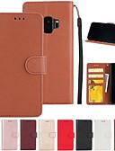 رخيصةأون أحزمة الرجال-غطاء من أجل Samsung Galaxy S9 S7 edge حامل البطاقات محفظة مع حامل قلب غطاء كامل للجسم سادة قاسي جلد PU إلى S9 Plus S9 S8 Plus S8 S7 edge