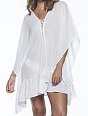 baratos Blusas Femininas-Mulheres Decote mergulhador Básico Bandeau Cobertura - Sólido, Laço Tanga