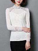 preiswerte Hemd-Damen Solide - Grundlegend T-shirt Spitze