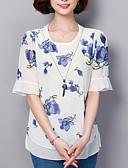 ieftine Bluză-Pentru femei Bluză Concediu De Bază - Floral Imprimeu / Vară