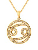 hesapli Spor Saat-Kübik Zirconia minik elmas Zodyak Uçlu Kolyeler Moda Altın Gümüş 55 cm Kolyeler Mücevher Uyumluluk Günlük