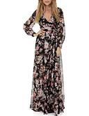 cheap Plus Size Dresses-Women's Sophisticated Sheath Dress - Floral Lace up / Print