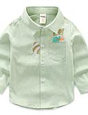 levne Chlapecké topy-Děti Chlapecké Aktivní Denní Tisk Výšivka Dlouhý rukáv Standardní Bavlna / Polyester Košile Bílá