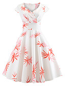 abordables Biquinis y Bañadores para Mujer-Mujer Vintage Algodón Delgado Pantalones - Floral Estampado Blanco / Escote Corazón / Noche