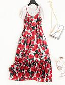 זול טישרט-שמלות פרחוני - עליונית טנק ליציאה בגדי ריקוד נשים