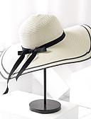 baratos Chapéus de Moda-Mulheres Básico / Férias De Palha Estampa Colorida
