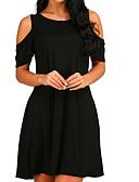 hesapli Külotlar-Kadın's Temel Tunik Elbise Diz üstü