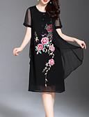ieftine Rochii de Damă-Pentru femei De Bază Pantaloni - Mată / Floral Negru
