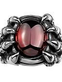 ieftine Maieu & Tricouri Bărbați-1 buc MPL Cool Argintiu / Bărbați / Sintetic Ruby / Band Ring / inox