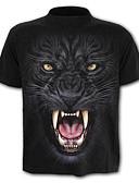 ieftine Maieu & Tricouri Bărbați-Bărbați Rotund - Mărime Plus Size Tricou Sport Bumbac Activ / De Bază - Leopard / Animal Imprimeu / Manșon scurt / Zvelt
