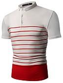 זול חולצות לגברים-פסים / קולור בלוק מידות גדולות כותנה, חולצה - בגדי ריקוד גברים / אנא בחר\י מידה אחת גדולה יותר מהמידה הנורמלית שלך. / שרוולים קצרים