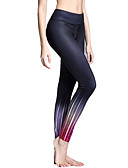cheap Women's Nightwear-Women's Tummy Control Yoga Pants - Peacock Blue, Turquoise, Violet Sports Tights Running, Gym, Exercise Activewear Lightweight, Moisture Wicking, Wearable Micro-elastic / Breathable