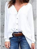 cheap Girls' Clothing-Women's Blouse - Solid Colored V Neck
