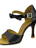 رخيصةأون هدايا-للمرأة أحذية رقص / صالة الرقص بريّق / جلد كعب بريق مميز / مشبك كعب ستيلتو مخصص أحذية الرقص فضة / أزرق / ذهبي