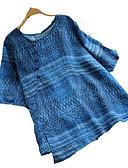 ieftine Tricou-pantaloni de lenjerie pentru femei - gât rotund solid colorat