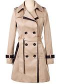 preiswerte Mantel & Trenchcoat-Damen - Solide Trench Coat Patchwork