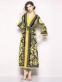 ieftine Costum Damă Două Bucăți-Pentru femei Boho / Șic Stradă Swing Rochie - Imprimeu, Floral Maxi