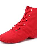 abordables Blazers y Chaquetas de Mujer-Mujer Zapatos de Jazz Tela Plano Tacón Cubano Zapatos de baile Negro / Rojo / Rosa / Rendimiento / Entrenamiento