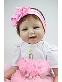 halpa Puhelimen kuoret-NPKCOLLECTION NPK DOLL Reborn Dolls Tyttö Nukke Tyttövauvat 22 inch Silikoni - elävä Käsintehty Lapsiturvallinen Non Toxic Täytetyt ja sinetöidyt kynnet Luonnollinen ihonväri Lasten Tyttöjen Lelut