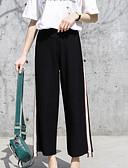 tanie Damskie spodnie-Damskie Aktywny Puszysta Bawełna Szorty Spodnie - Solidne kolory Czarno-biały, Frędzel Czarny