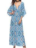 povoljno Ženske haljine-Žene Korice / Swing kroj Haljina - Otvorena leđa / S izrezom / Vezanje straga, Geometrijski oblici Maxi