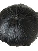 זול טרנינגים וקפוצ'ונים לגברים-בגדי ריקוד גברים שיער אנושי פיאות ישר תחרה מלאה רך