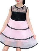 abordables Vestidos de Niña-Niños Chica Floral / Geométrico Manga Corta Vestido