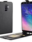 tanie Modne zegarki-Kılıf Na Samsung Galaxy A8 2018 / A6 (2018) Etui na karty / Flip Pełne etui Solidne kolory Twardość Skóra PU na A6 (2018) / A6+ (2018) / A8 2018