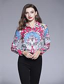 tanie Koszula-Koszula Damskie Podstawowy, Nadruk Kołnierzyk koszuli Geometric Shape