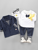 ieftine Baby Boys' One-Piece-Bebelus Băieți Dungi Manșon Lung Set Îmbrăcăminte