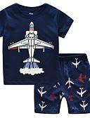 povoljno Kompletići za dječake-Djeca Dječaci Osnovni Print Print Kratkih rukava Pamuk Komplet odjeće
