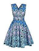 cheap Women's Dresses-Women's Going out Slim Sheath Dress High Waist Deep V