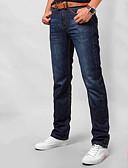 ieftine Pantaloni Bărbați si Pantaloni Scurți-Bărbați Zvelt Blugi Pantaloni Mată / Muncă