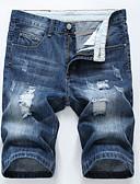 baratos Camisetas & Regatas Masculinas-Homens Activo / Básico Jeans / Shorts Calças - Sólido