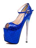 ieftine Romantic Lace-Pentru femei Sintetice Primăvara & toamnă / Vară Englezesc / minimalism Tocuri Toc Stilat Pantofi vârf deschis Paiete Auriu / Fucsia / Albastru / Nuntă / Party & Seară